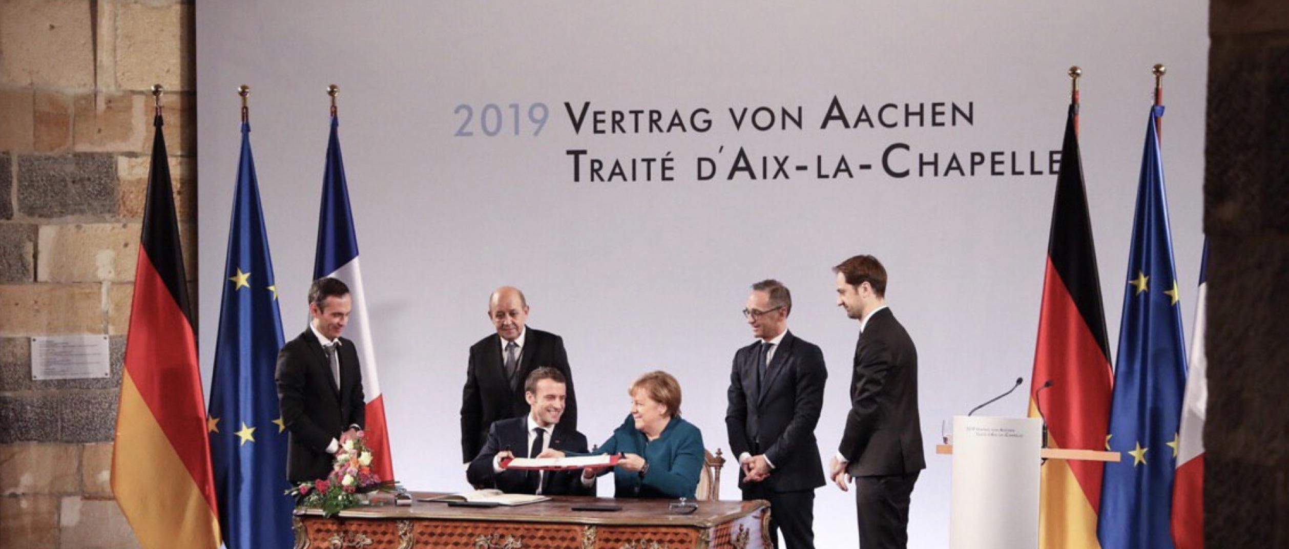 Signature du traité d'Aix-la-Chapelle