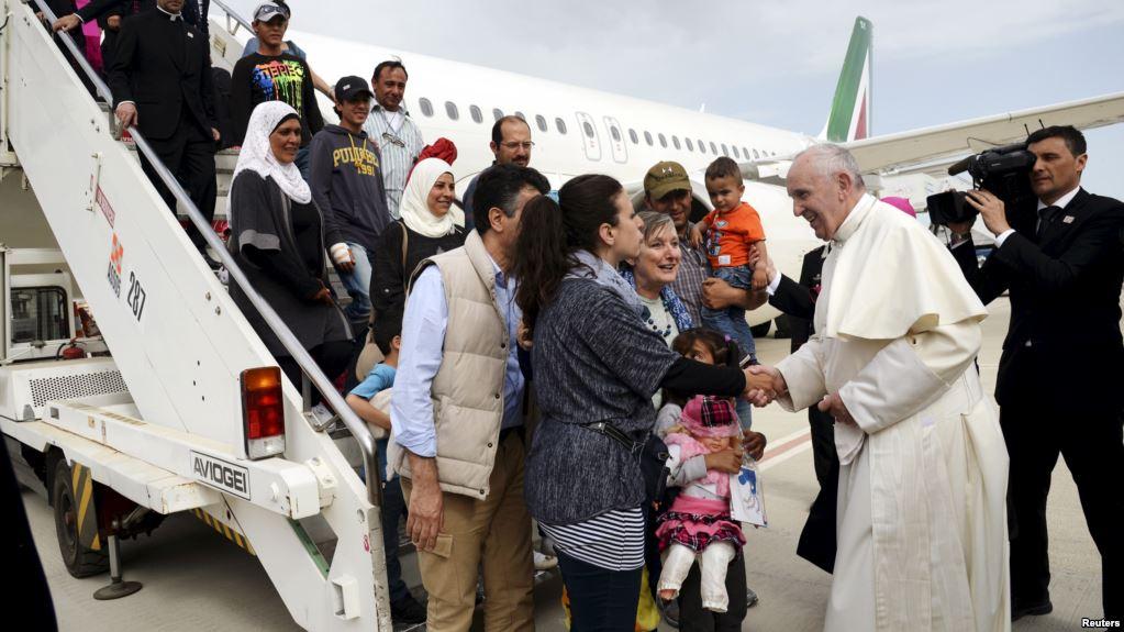 Le pape François et les migrants