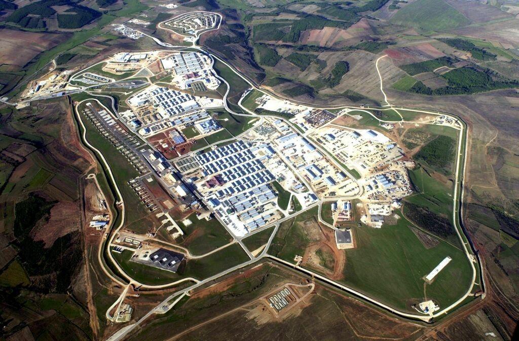 La base de Bondsteel au Kosovo Etats-Unis