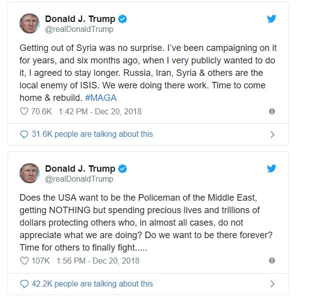 Trump : la position des Etats-Unis sur la Syrie