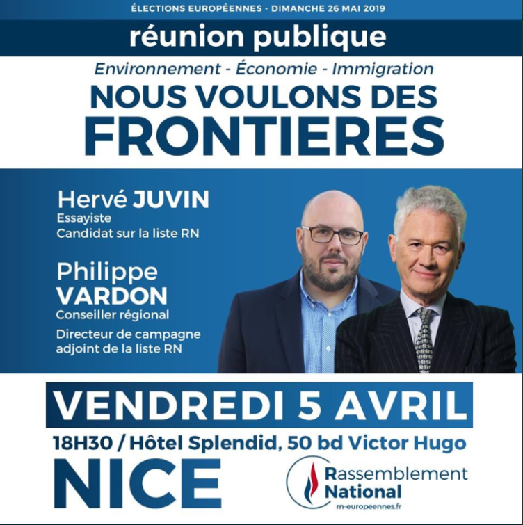 Nice Hervé Juvin frontière