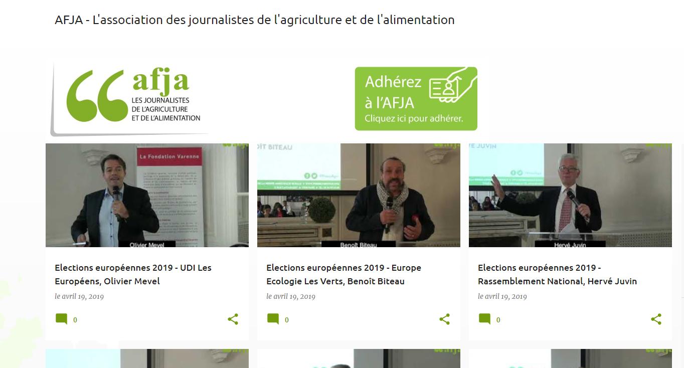 Intervention à 'association des journalistes de l'agriculture et de l'alimentation