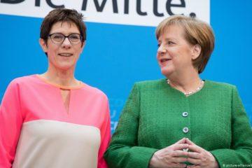 Question allemande AKK AND Merkel