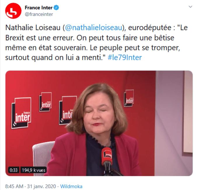 Nathalie Loiseau sur le Brexit
