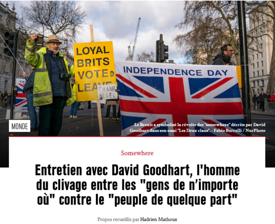 Brexit & David Goodhart