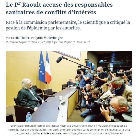Raoult Crise big pharma